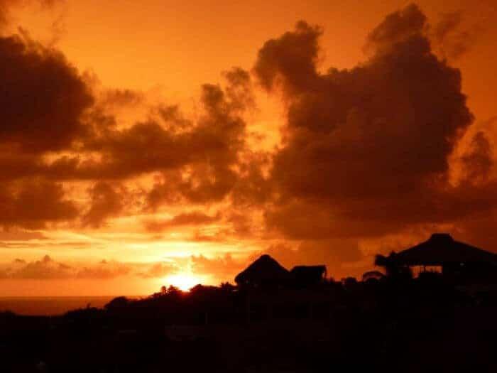 An incredible sunset in Puerto Escondido
