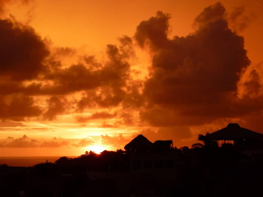An incredible sunset in Puerto Escondido, Oaxaca.