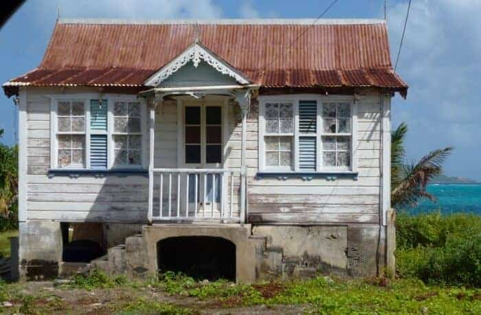 Fixer-upper house on the island of Carriacou.