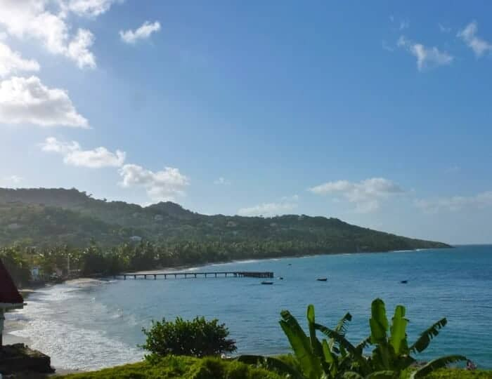 View of Sauteurs Bay on the northern tip of Grenada.