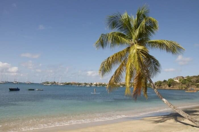 Beautiful (and swimmable) Lance Aux Epines beach in Grenada.