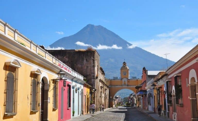 Historic arch of Santa catarina in Antigua Guatemala