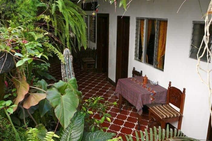 View of courtyard at Posada La Merced