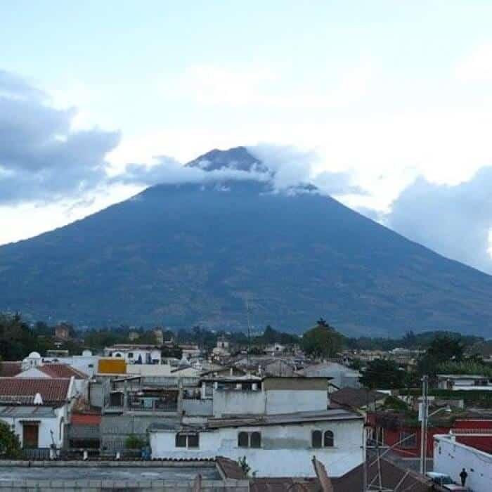 Agua Volcano in Antigua Guatemala