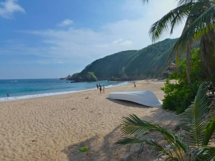 Beautiful beach in Mazunte