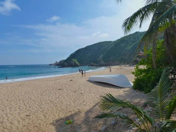 Beautiful beach in Mazunte