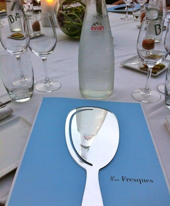 Menu at Les Fresques restaurant, Evian