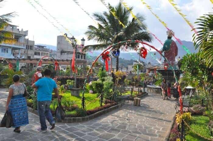 Main square of San Pedro la Laguna Guatemala