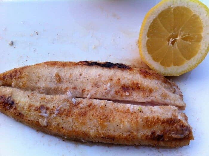 Classic filet of perch at Les Fresques restaurant,  Evian