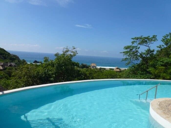 Beautiful swimming pool at Oceano Mar in Mazunte, Mexico