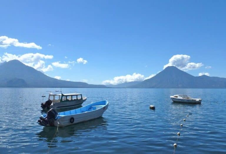 View across Lake Atitlan Guatemala