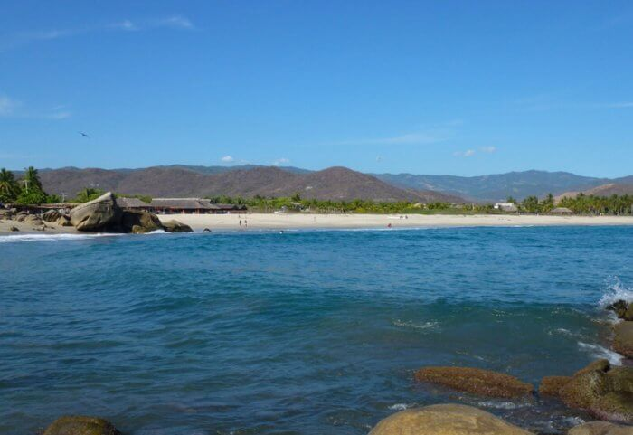 Roca Blanca Beach in Oaxaca