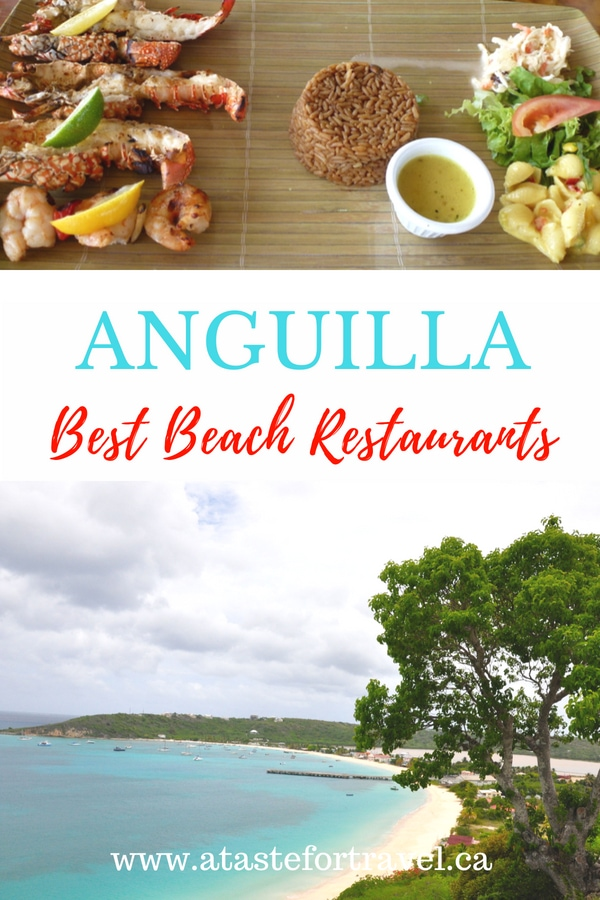 Discover the best restaurants on Anguilla including top spots to dine on great local food and fine cuisine without even leaving the beach #Caribbean #food