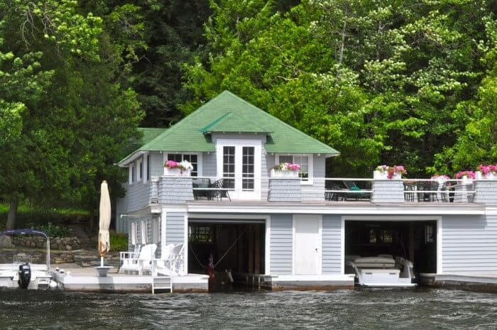 Boathouses in Muskoka, Ontario
