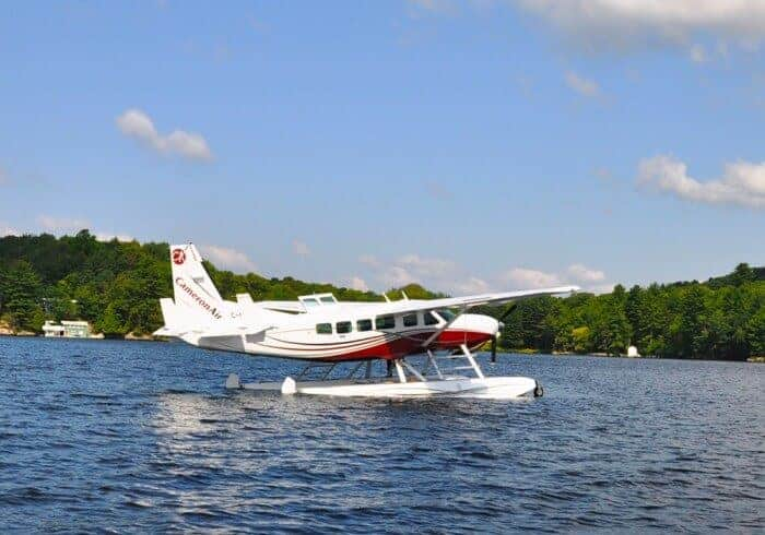 A Cameron Air float plane in Muskoka
