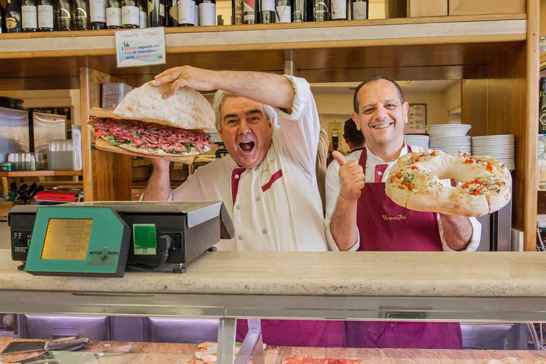 Enjoy authentic Roman cuisine and enthusiasm at cafeteria Volpetti Piu Photo credit - Eating Europe @ATasteforTravel
