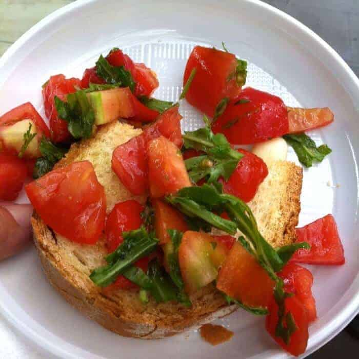 Make your own bruschetta during a Taste of Testaccio walking tour in Rome Photo credit Francisco Javier Sanchez