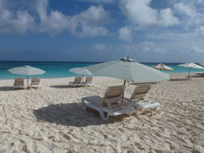Beach Chairs at Shoal Bay Anguilla