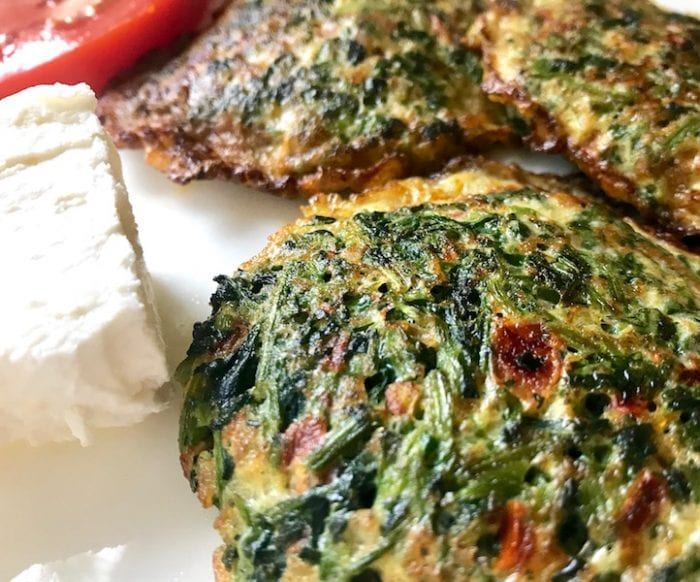 Tortitas de berro a Guatemalan recipe for watercress omelette with cheese