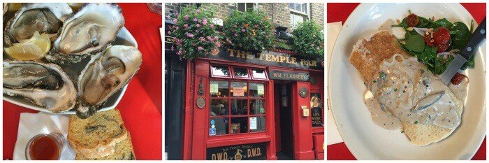 Pubs and traditional boxty in Dublin