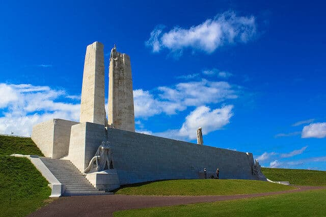 Vimy Ridge Memorial Credit Andy Hay Flickr