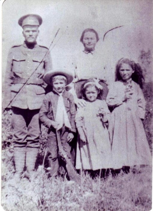 The Biely Family on the farm in Saskatchewan in WW1.