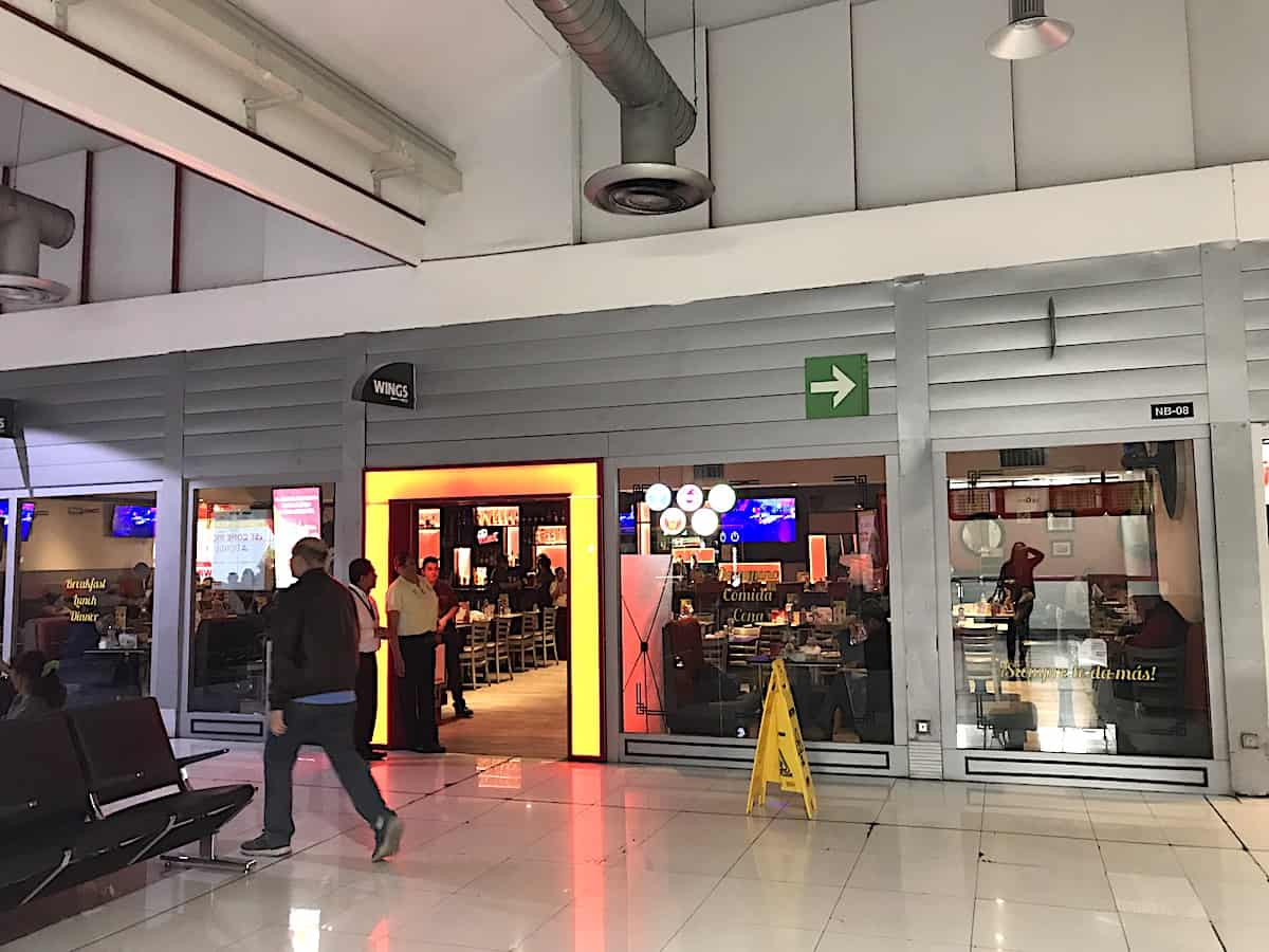 Wings restaurant at Mexico City airport.