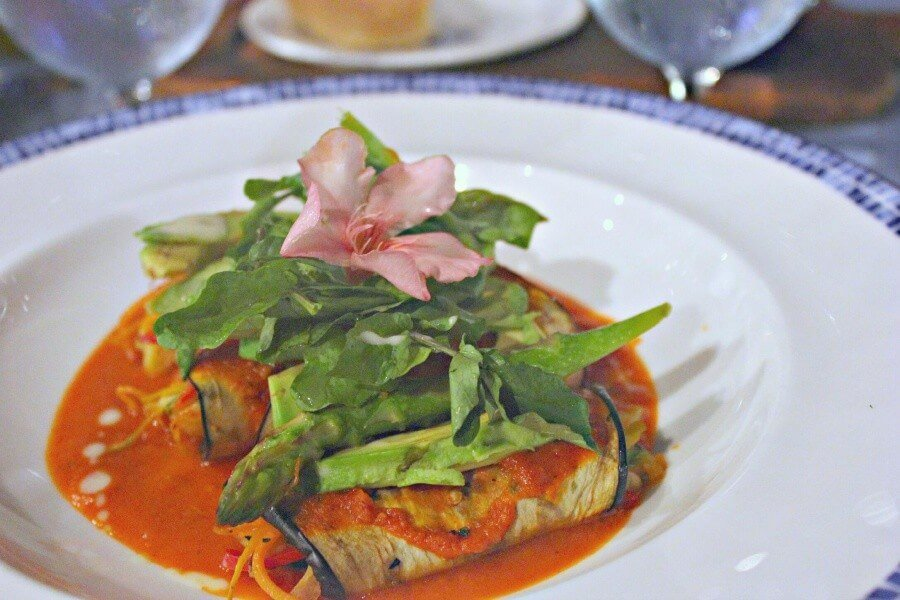 Delicious vegan eggplant cannelloni at Oceana Credit Jessica Percy Campbell