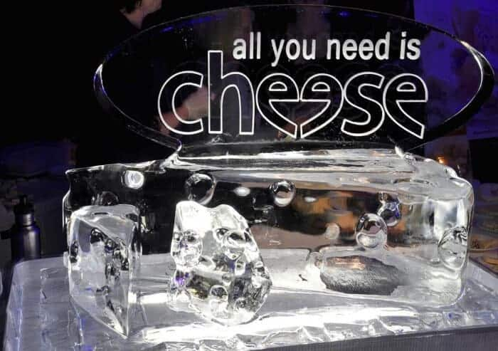 Ice sculpture of Ontario cheese