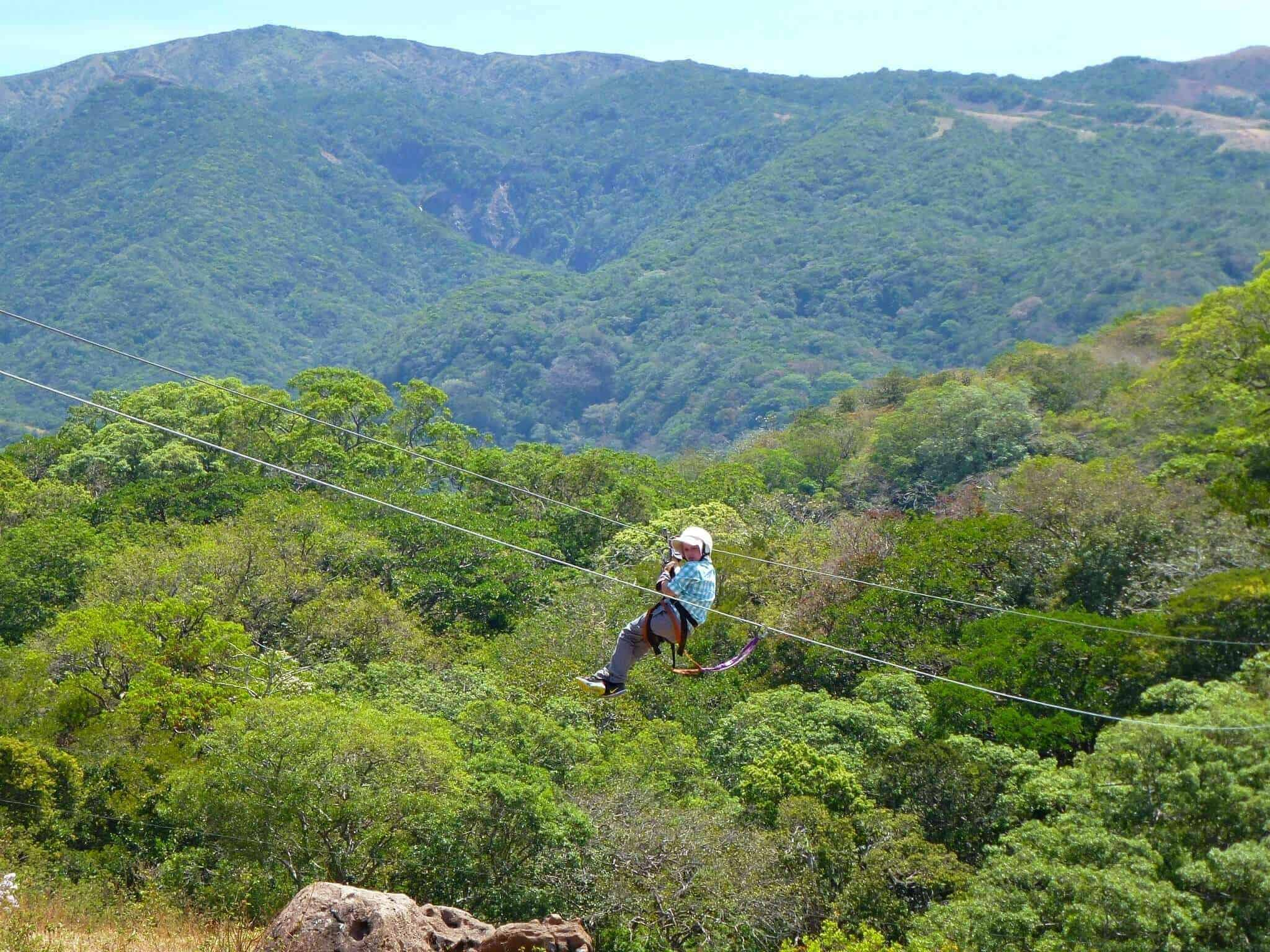 Zip-lining or canopy tours are a thrilling way to experience Costa Rica's volcanoes and rainforest