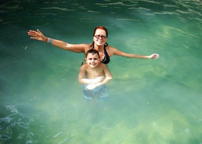 Soaking in a thermal pool at Rincon de la Vieja National Park
