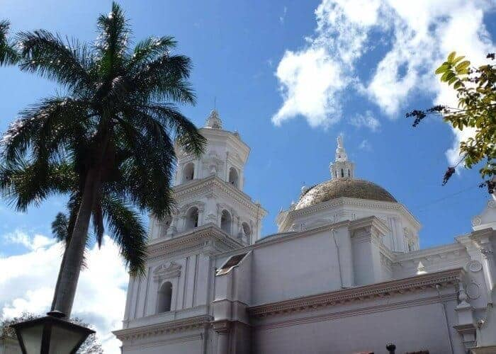 Domed roof of the Basilica of Esquipulas in Guatemala.