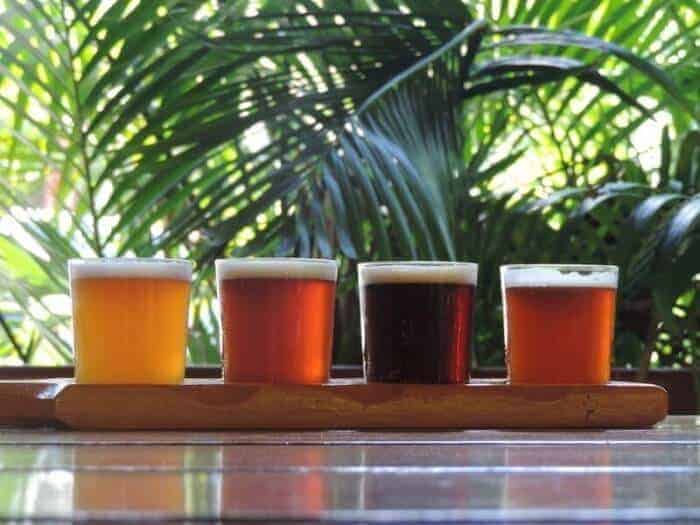 Flight of West Indies craft beer (Photo Credit- West Indies Beer Co.)