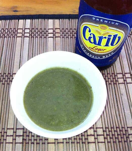 Callaloo soup at Patrick's Homestyle restaurant