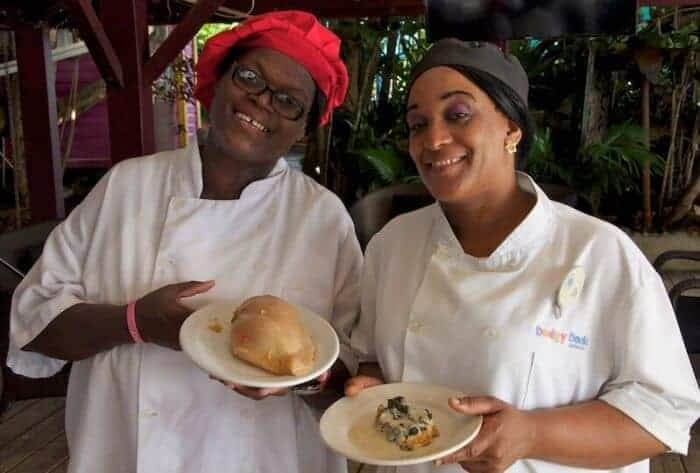 Esther and Omega host Grenadian cooking classes at True Blue Bay Resort in Grenada