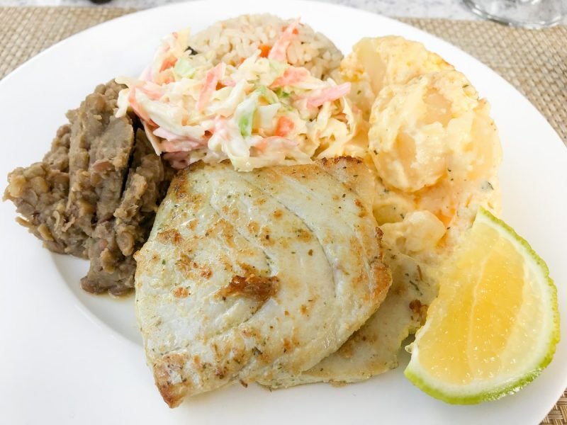 Grenadian lunch special