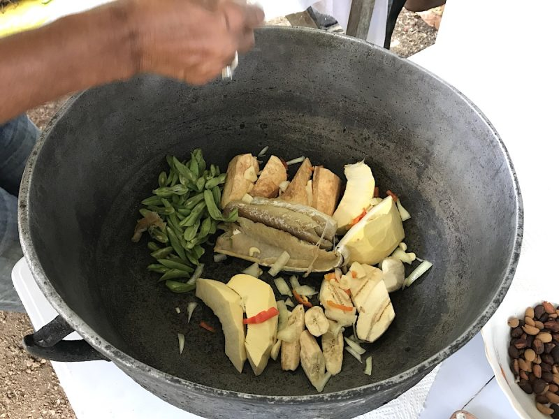 Making oildown in Grenada with Flavours of Grenada
