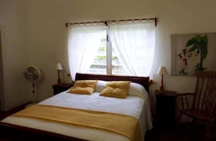 master bedroom at Olveston House Montserrat