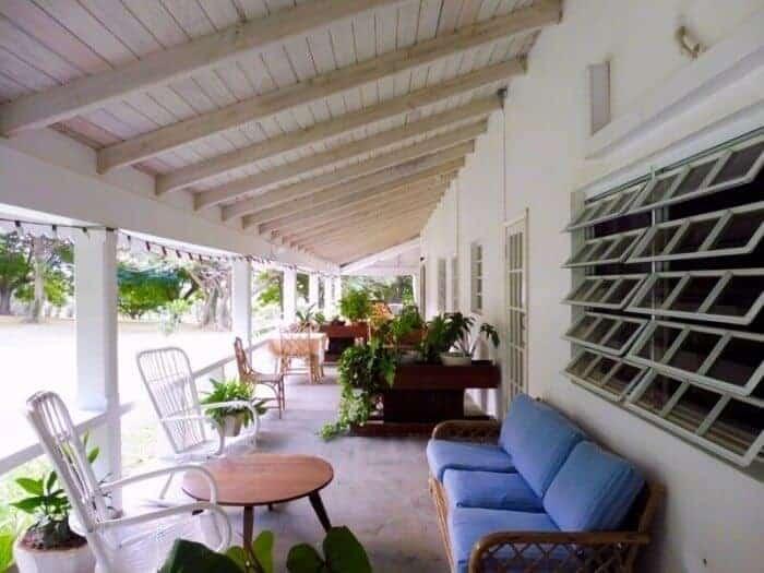 Veranda at Olveston House