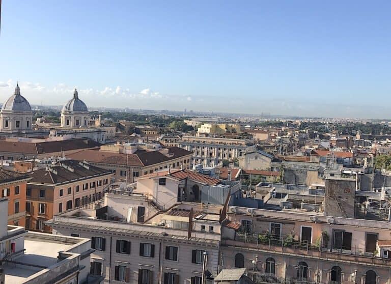 Skyline of the Termini neighbourhood of Rome.