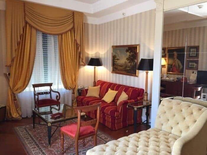 Suite at Bettoja Mediterraneo Hotel Rome
