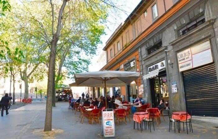 Street scene near Stazione Centrale Roma Termini