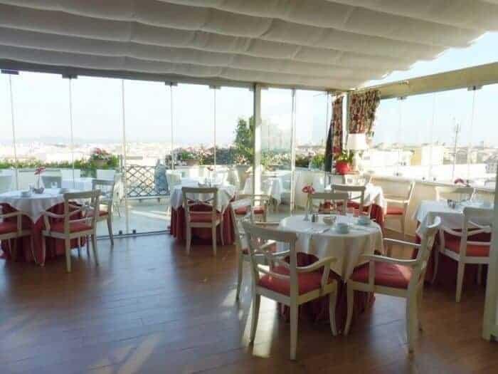 Breakfast room at Termini Bettoja Hotel Mediterraneo