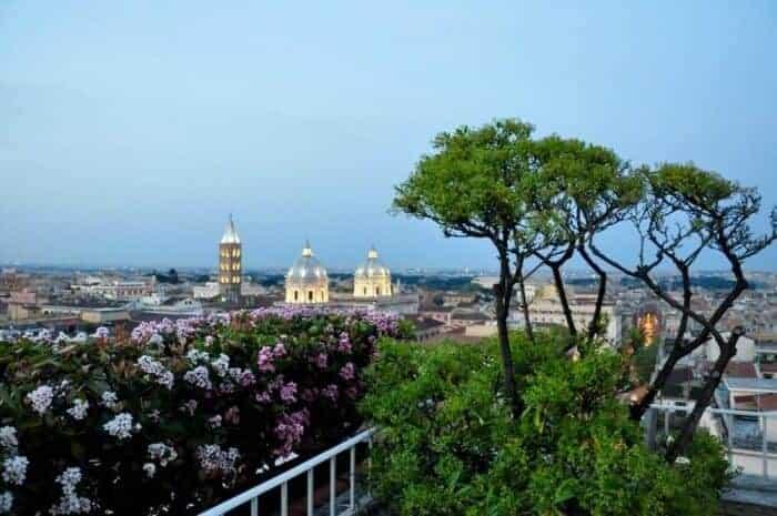 View from terrace of Bettoja Mediterraneo Hotel