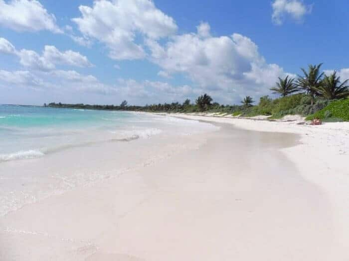 Beautiful white sand beach at XPU-Ha