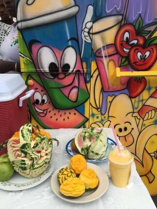 Mango shake at Nevis Mango and Food Festival