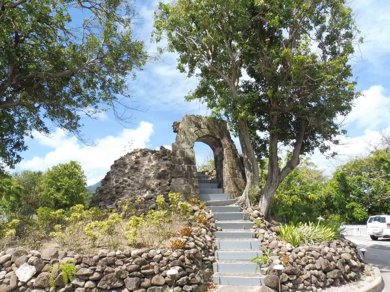 Remains of a sugar mill on the island of Nevis.