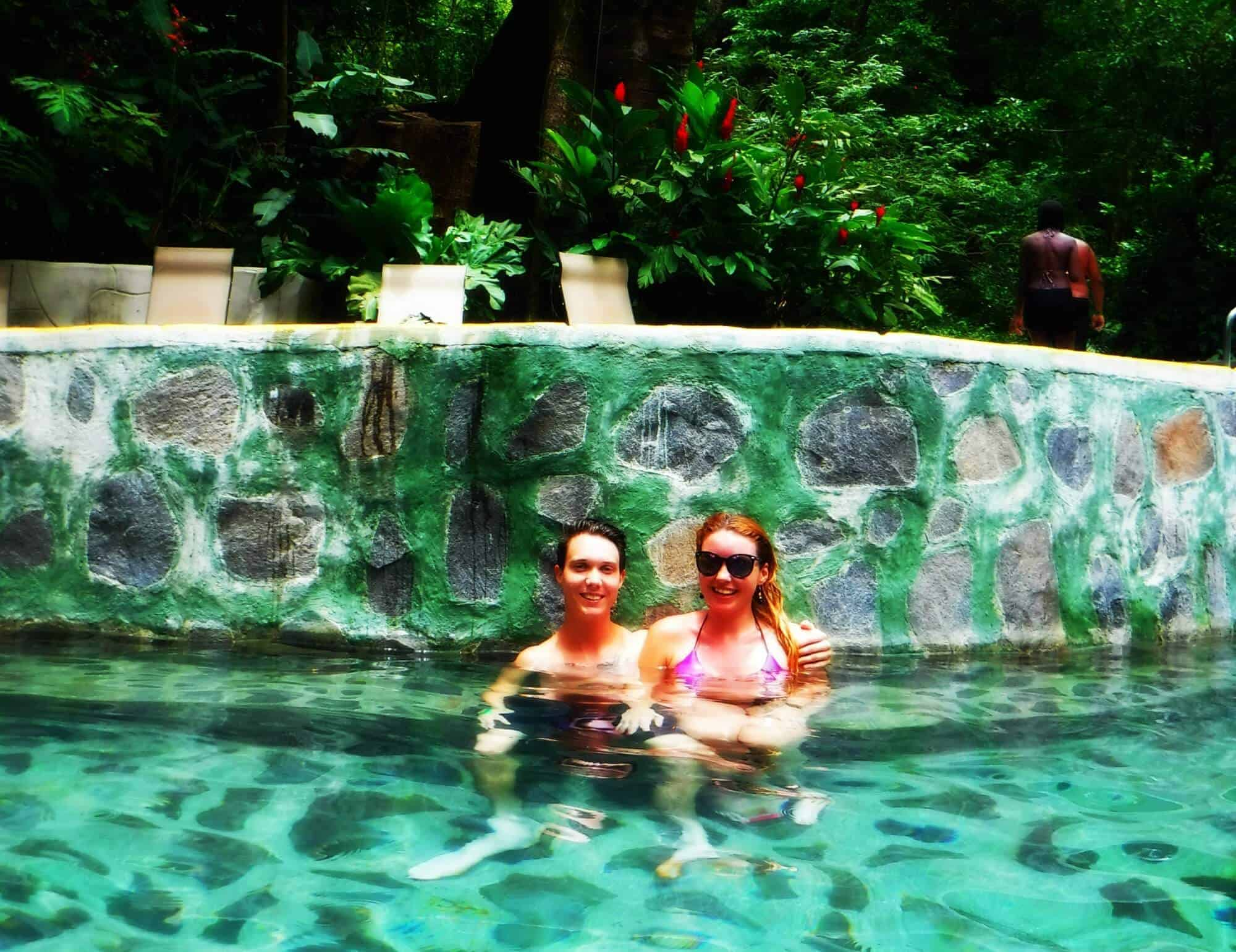 Hot springs at Buena Vista Lodge and Adventure in Costa Rica