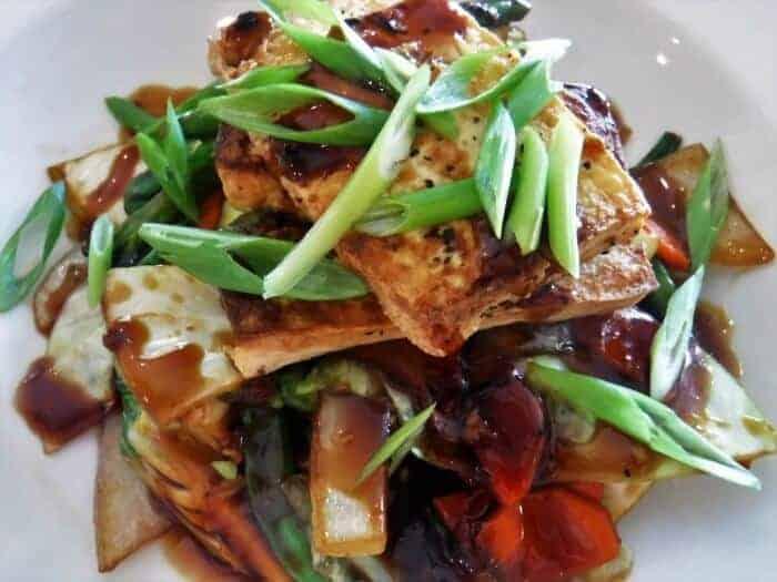 Tofu teryaki at Breezes Bahamas
