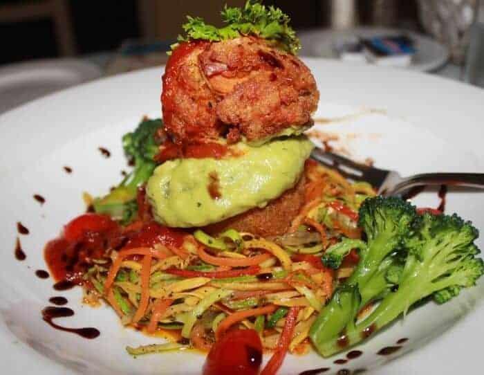 vegan-meat-ball-at Breezes Resort & Spa Bahamas